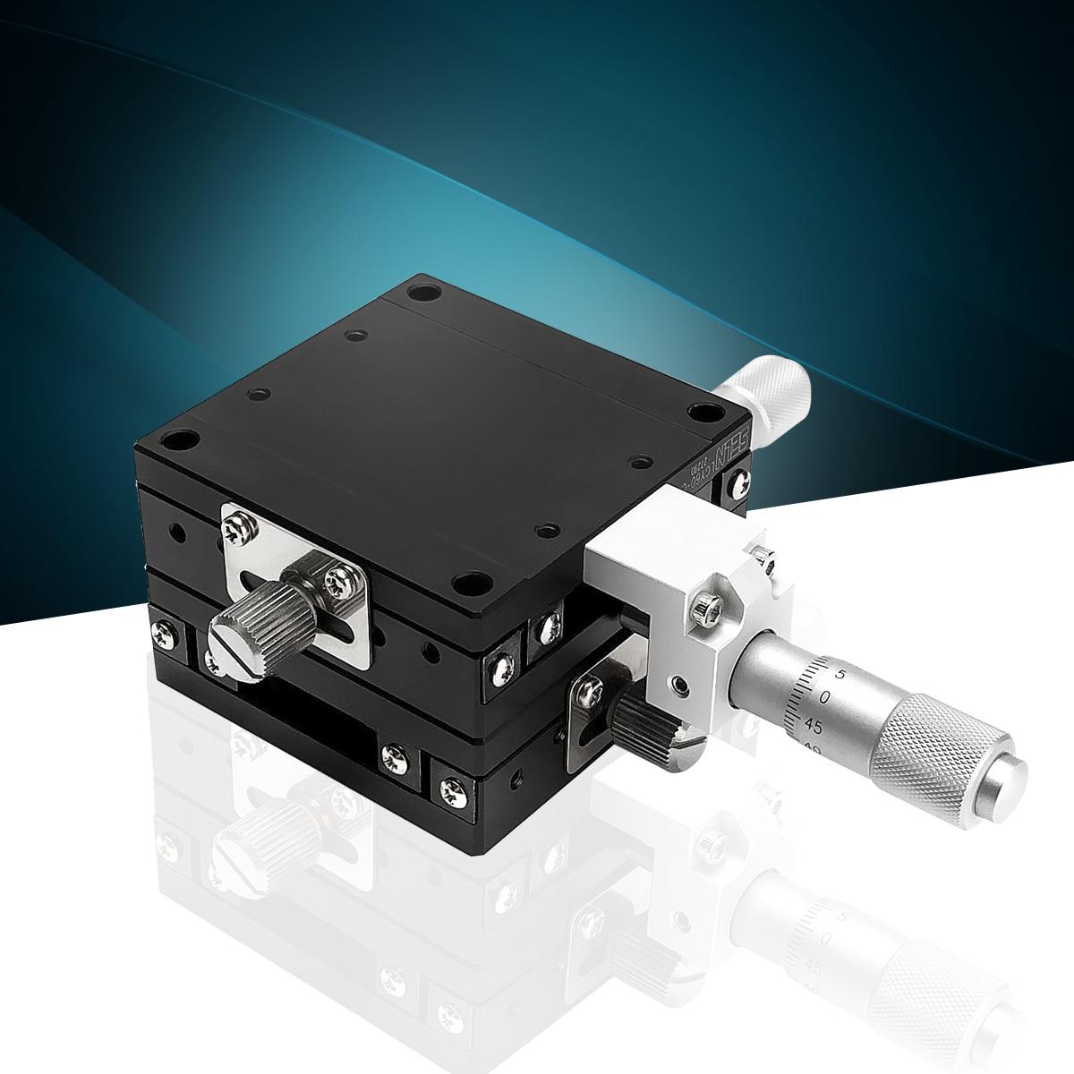 Новый LGY60-C 60 мм x 60 мм xy-оси этап Линейный Бал бары точность ручной смещение платформы ручной инструмент
