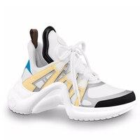Осенняя белая женская обувь Ins Super Fire; модные стильные разноцветные кроссовки на платформе; роскошная женская обувь
