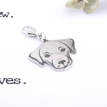 100 pcs/lot Custom Pet ID Name Tag Stainless Steel Personalized Dog Tag Engraved Dogs Pets Collar Accessories