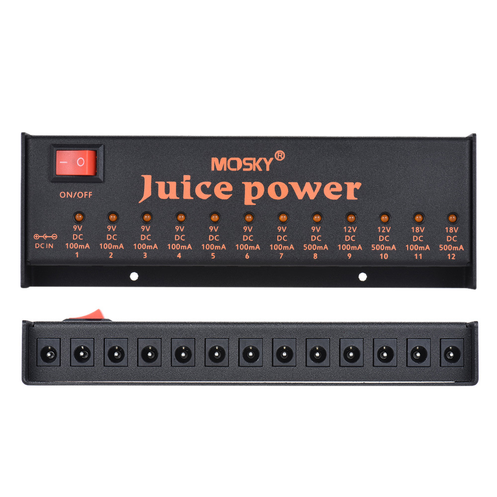 BMDT MOSKY JUICE POWER Guitar Effect Pedal Power Supply Station 12 Isolated DC Outputs for 9V