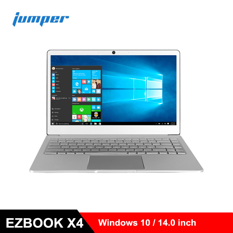 Jumper EZbook X4 Notebook 14.0 inch Windows 10 Laptops Intel Apollo Lake J3455 Quad Core 1.5GHz 6GB RAM 128GB SSD 2.0MP PC