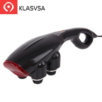 KLASVSA Electric Shiatsu Vibrator Massager Hammer Stick Roller Heads Back Neck High Frequency Acupressure Relax Health Care