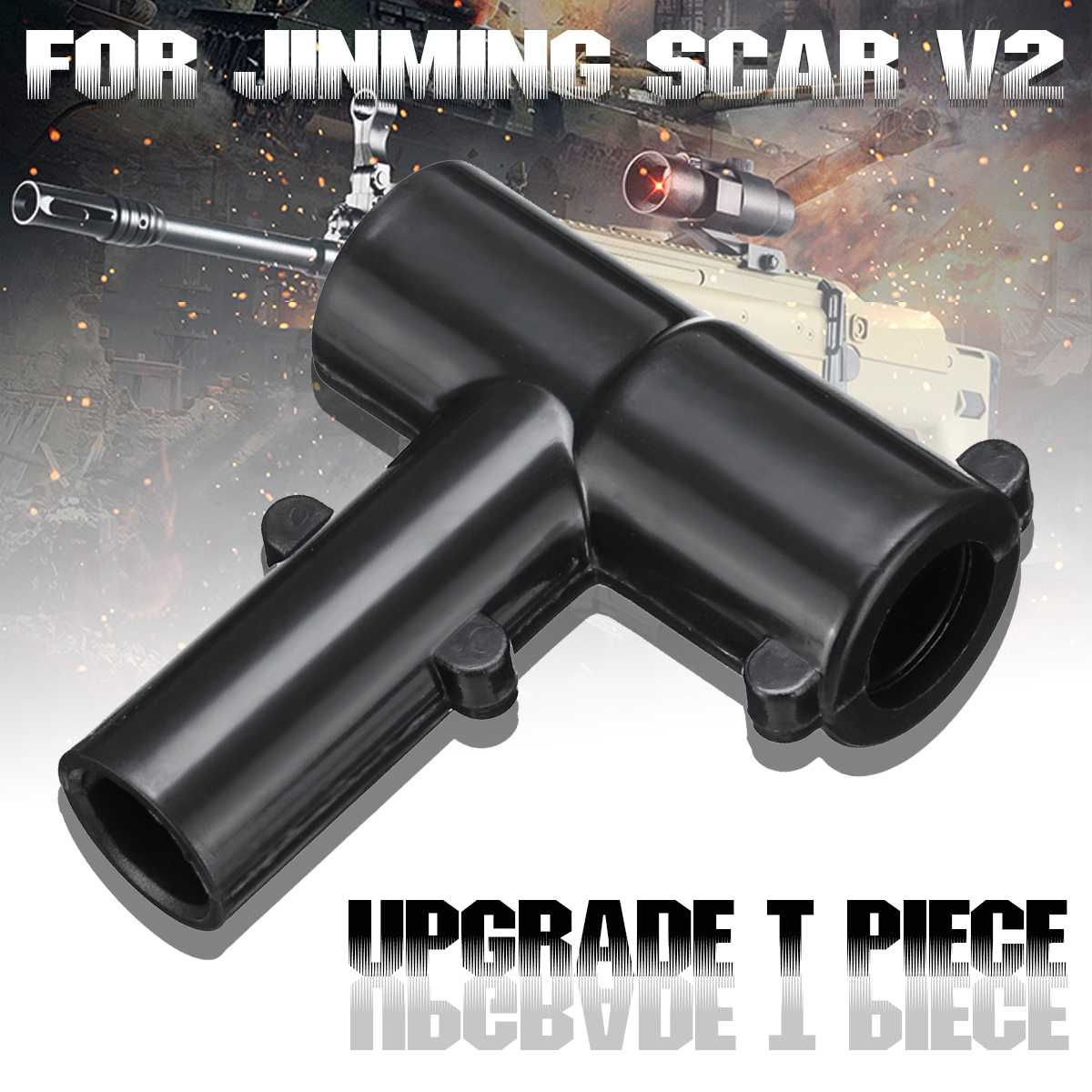 Upgrade T Piece For JINMING SCAR V2 Aluminum Barrel Gel Ball Blasting Water Toys Gu N  T Piece Accessories