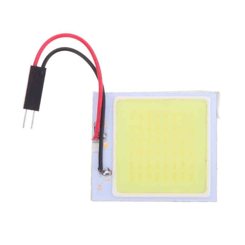 12V Auto Led Licht COB 48 SMD Reading Dome Festoen Lamp Auto Interieur Light-emitting Diode Licht panel w/T10 Adapter Auto