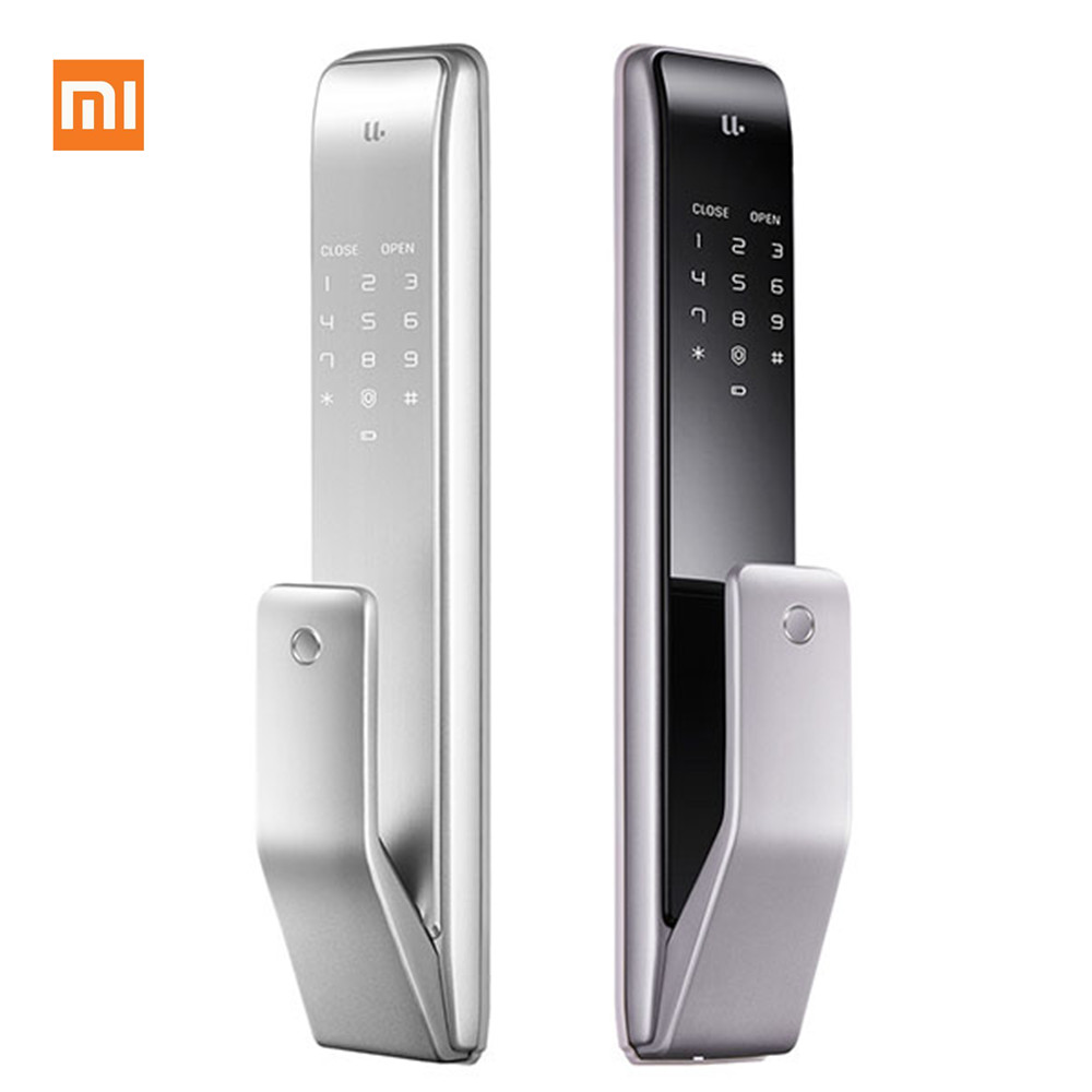 Xiaomi Youpin M2 Automatic Fingerprint Sliding Lock Smart Sliding Lock Automatic Push-pull Smart Remote Control For Mijia App #3 Furniture Accessories