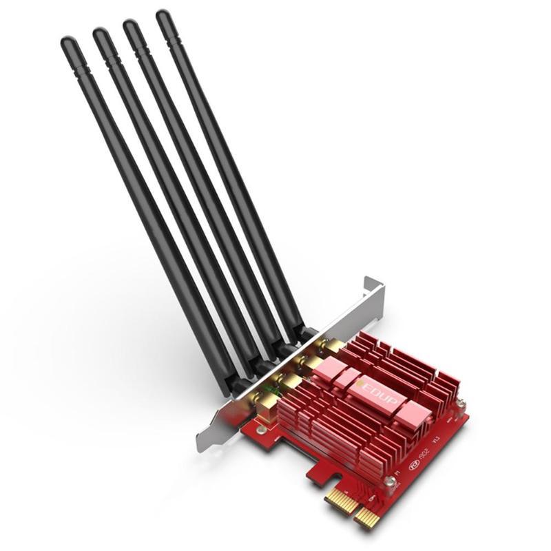 Carte réseau sans fil PCI-E 2.4/5 GHz double bande AC 1900 Mbps PCI Express adaptateur WiFi de bureau avec antennes 4 * 5dBi pour la victoire