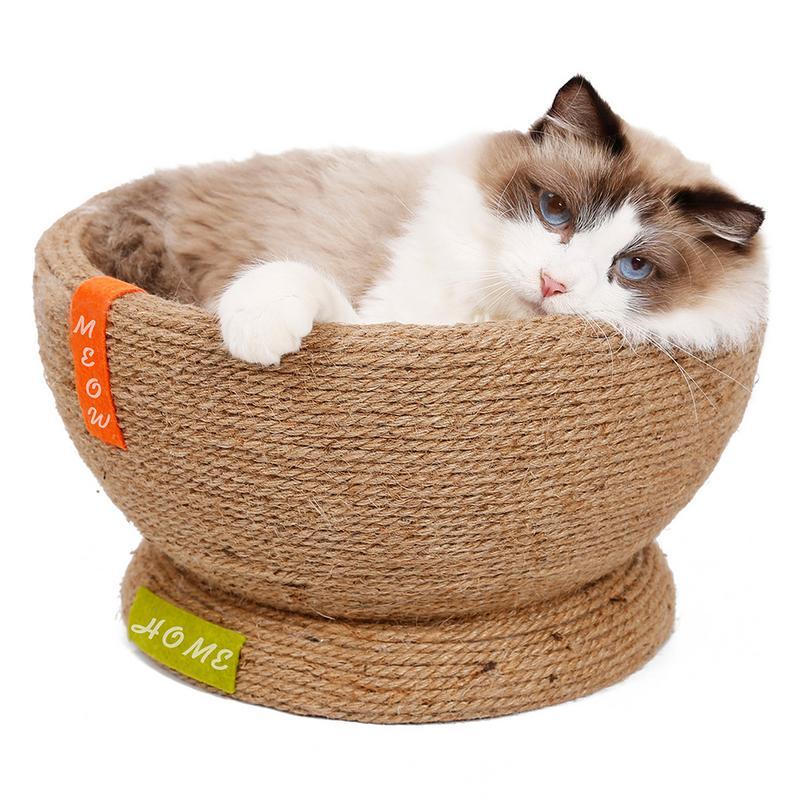 Grande litière pour chat mignon en forme de bol épée bricolage personnalisé bâton dormir griffes chat maison Design humanisé innovant 2019 nouveau