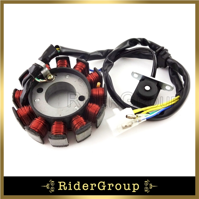 US $19 99 10% OFF|12 Coils Poles Ignition Stator Magneto Rotor For GY6  125cc 150cc Engine Parts Chinese Moped Scooter Go Kart ATV Quad 4  Wheeler-in