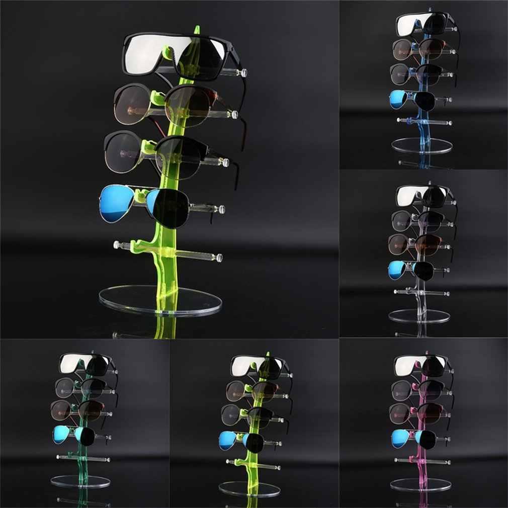 Pmma & сплав 5 пар Солнцезащитные очки Модные Акриловые шоу счетчик стойки стенд для очков подставка держатель прозрачный