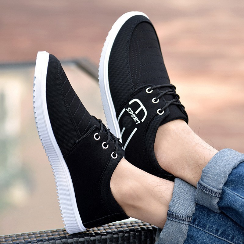 Newest Men Canvas Shoes 2019 Spring Autumn Men Casual Shoes Denim Lace Up Flats Breathable Moccasins Hot Sale Dropshipping in Men 39 s Casual Shoes from Shoes