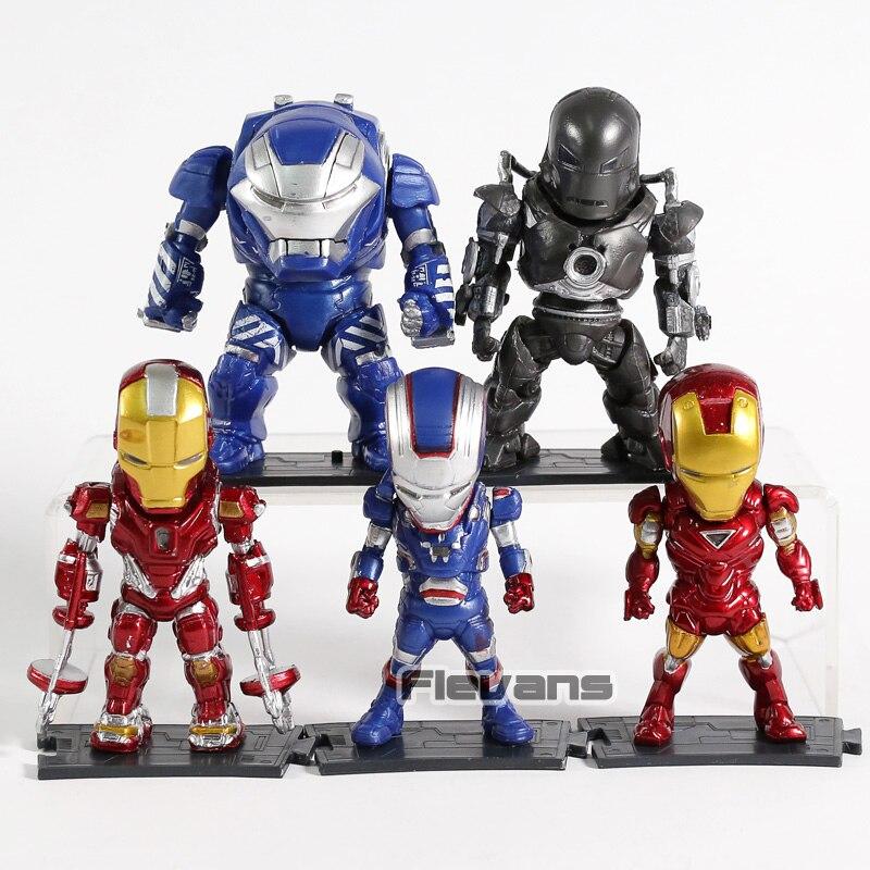 Iron Man MK 1 6 38 Igor  Red Snapper PVC Action Figures Toys 5pcs/set