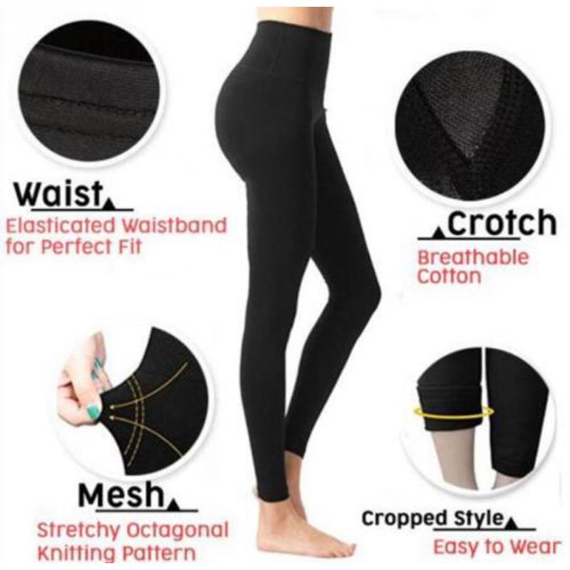 Pressurized 3D Cutting Women Pants Hip Lift Compression Elastic Soft Stretchy Slim Leg Shaping Fat Burning Sculpt Autumn Winter