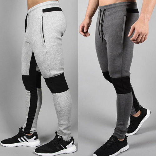 Pants Sporty Tranning Workout Fitness Gym Casual Stripe Flexible Men Joggers Males
