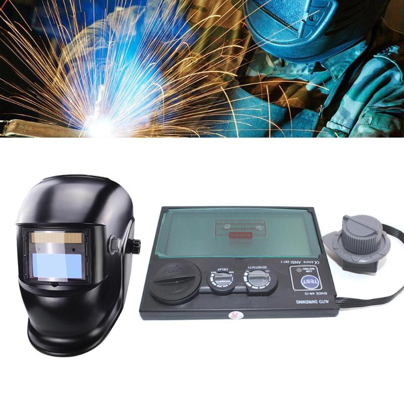 LCD Screen Solar Auto Darkening Welding Helmet Anti Glare Mask Lens Automation UV IR Filter Solar Welding Filter Helmet Accessor
