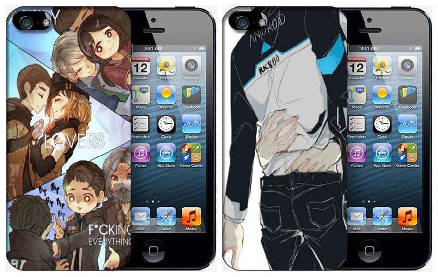 Detroit: torne-se connor humano telefone celular caso capa escudo móvel para iphone samsung 56789 s x plus nota cosplay