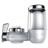 Long Lasting Water Faucet Filtration System, Faucet Water Filter, Removes Lead, Fluoride & Chlorine Fits Standard Faucets