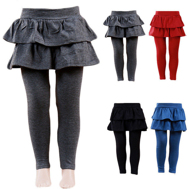 cd560a447 4 Colors Baby Girls Culottes Pantskirt Autumn Winter Thick Warm ...
