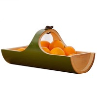 Natural Bamboo Fruit Tray For Drying Dishes Food Vintage Kitchen For Decorative Creative Storage Tea Serving Table Japanese