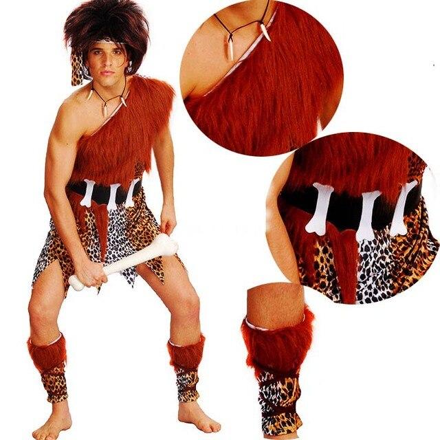 Disfraz de salvaje Original de hombre y mujer, disfraz de Cosplay de Wildman para niños, Halloween, Navidad, Purim