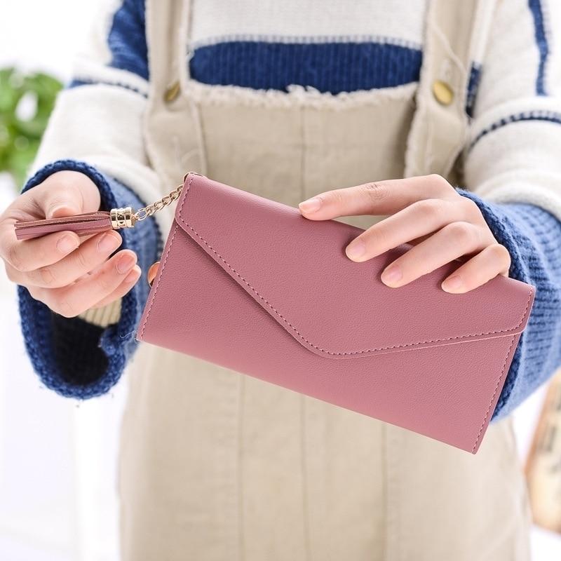 2019 Fashion Hand Wallet Female Long Purse Cute Tassel Zipper Student Ladies
