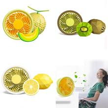 New Mini Round Portable USB Cooling Fan Cooler Fruit Fan with Small Felt Pad