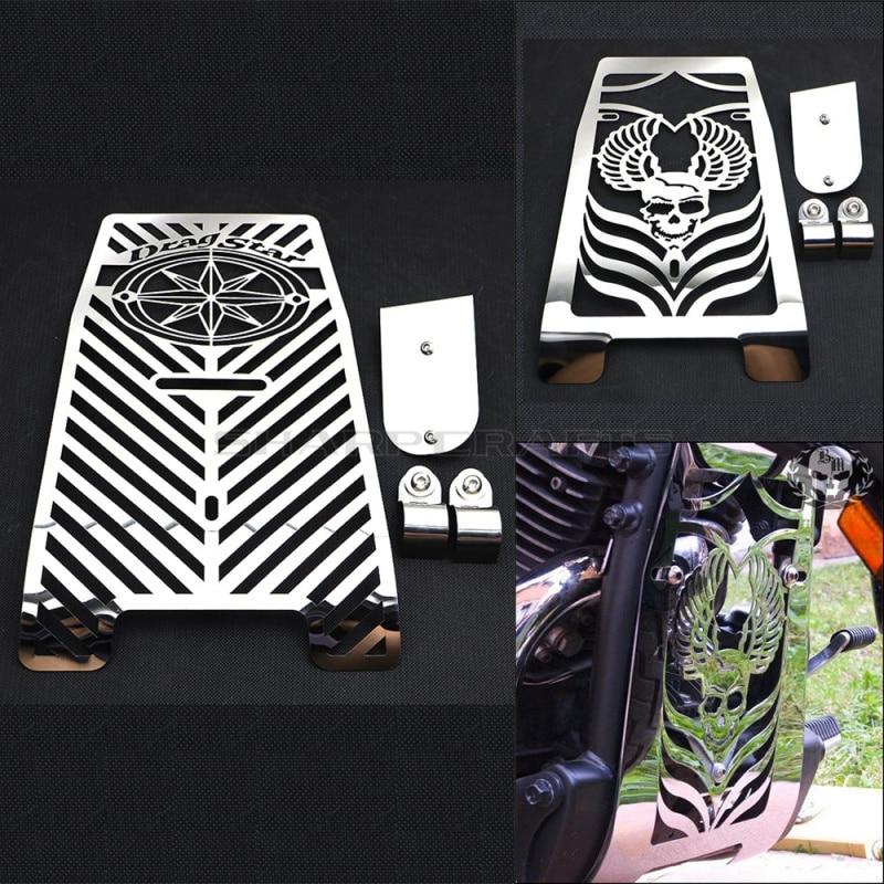 Motorcycle 1998 2017 Steel Cool Skull Radiator Grill Cover Guard Protector For YAMAHA Vstar XVS650 Dragstar