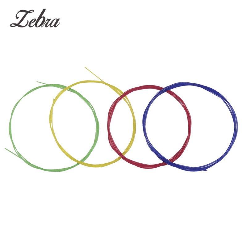 4 Pcs/set Colorful Ukulele Nylon Strings Replacement Supplies Stringed Instruments Ukulele  Parts Uke Mini Guitar Strings