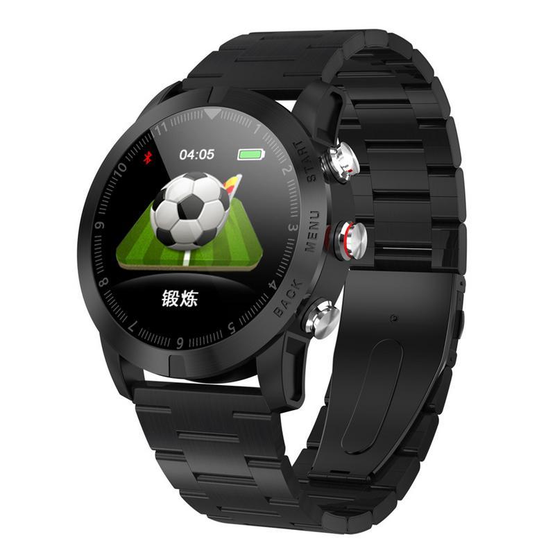 Relógio Inteligente 1.3 ''IP68 S10 DTNO.1 o Monitoramento da Frequência Cardíaca Do Bluetooth 4.2 Smartwatch À Prova D' Água Relógio Do Esporte Bússola para Android iOS