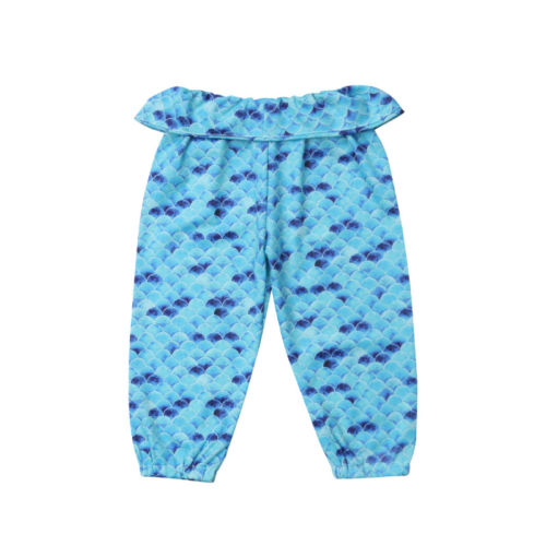35542725e36af Cartoon Toddler Baby Girls Mermaid Pants Bottoms Leggings Clothes-in ...