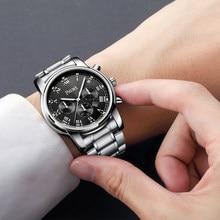 купить Luxury Men Watches Cool Top Brand Stainless Steel waterproof Men's quartz Wrist Watch Male Wristwatches clock relogio masculino по цене 943.75 рублей