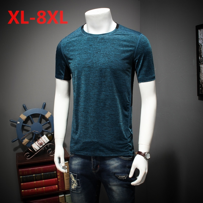 plus size 10XL 8XL 5XL 6XL Summer Style New T Shirt Men outwear gray military Quick Dry Slim Fit T shirt Men's brand Clothing