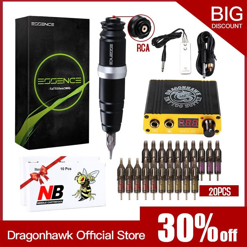 DRAGONHAWK Professional роторная ручка татуировка комплект смешанный размер картридж Nddles набор ЖК-Мини