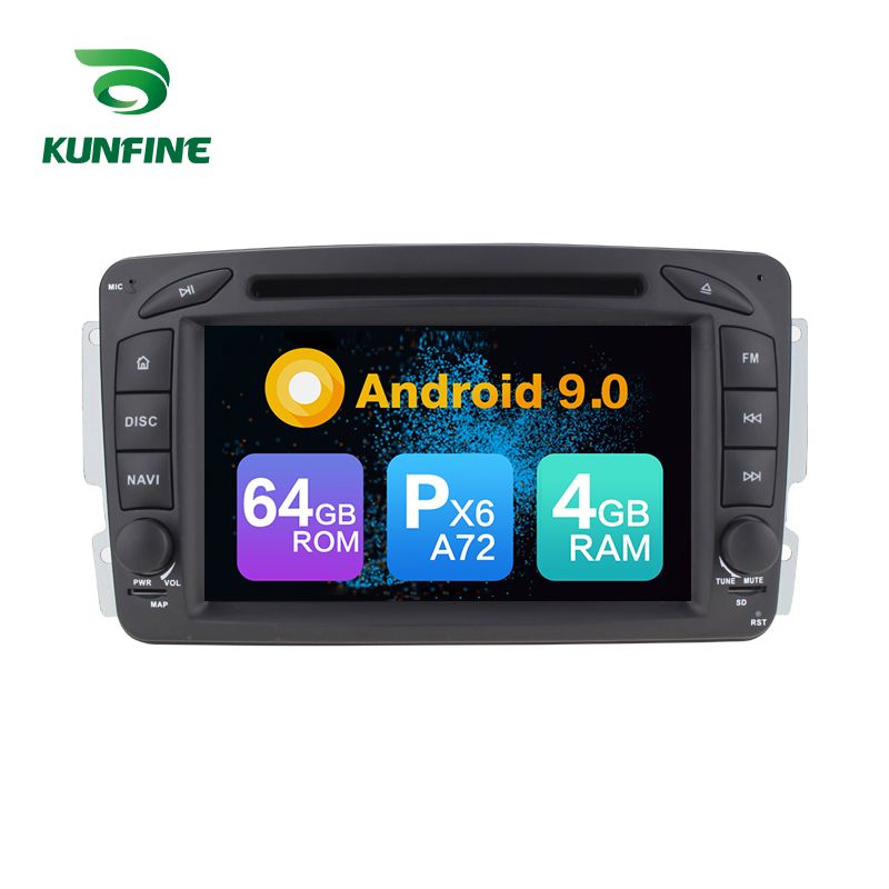 Android 9.0 Core PX6 A72 Ram 4G Rom 64G voiture DVD GPS lecteur multimédia autoradio pour Benz Vito W639 2004-2006 Radio Headunit