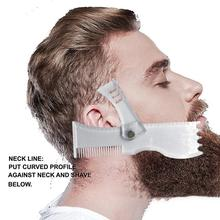 New Arrivals Men Beard Shaping Styling Template Comb Transparent Beards Combs Beauty Tool For Hair Trim Templates