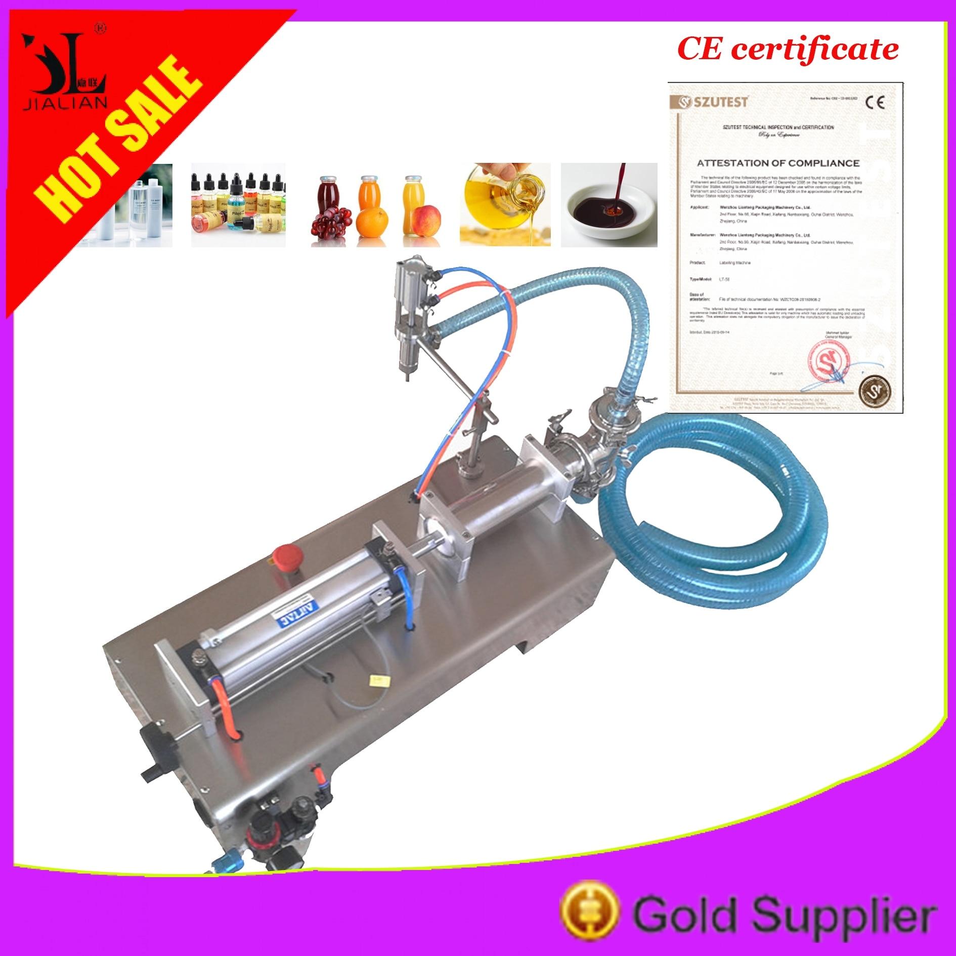 Pneumatic Piston Liquid Filler Shampoo Water Wine Milk Juice Vinegar Coffee Oil Drink Detergent Filling Machine Free Shipping