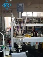 3L laboratorio camisa/de doble capa de vidrio reactor equipos de pruebas de Reactor de vidrio fabricante en China con el mejor precio