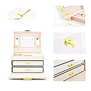 Image 5 - Jewelry box Case / boxes / makeup box, jewelry and cosmetics beauty case with 2 drawers 3 layers