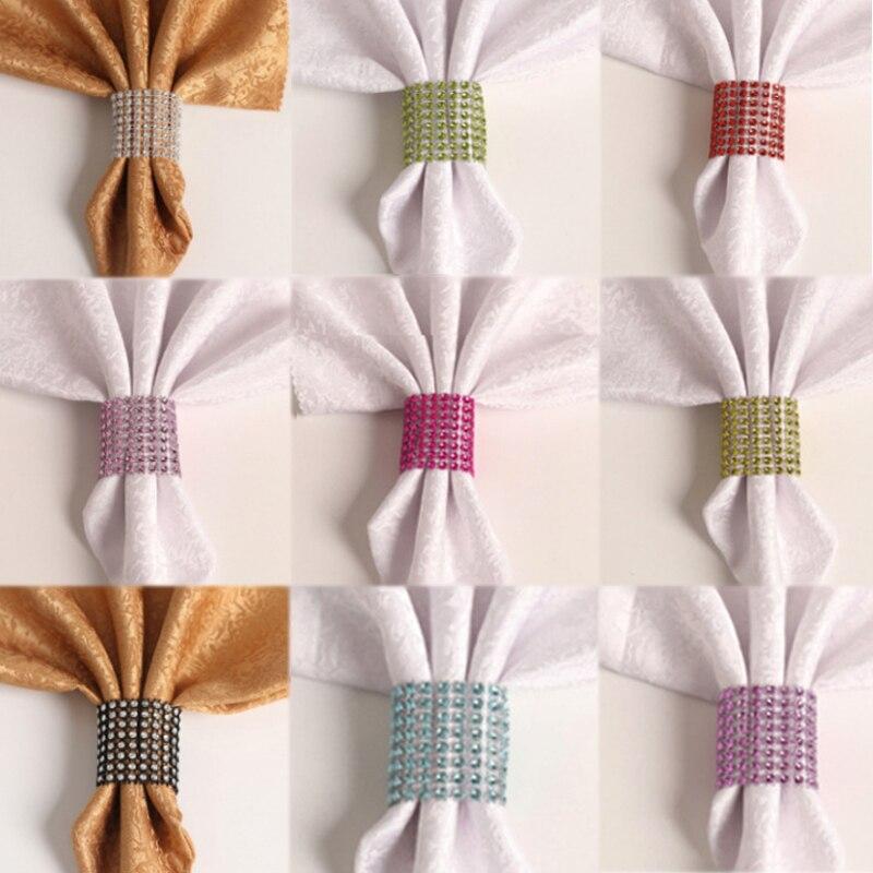 Deskundig Hot 10 Stks/partij Voor Bruiloft Kerst Banket Diner Crystal Strass Servetringen Tafel Stoel Sjerpen Servetringen Decoratie Knappe Verschijning