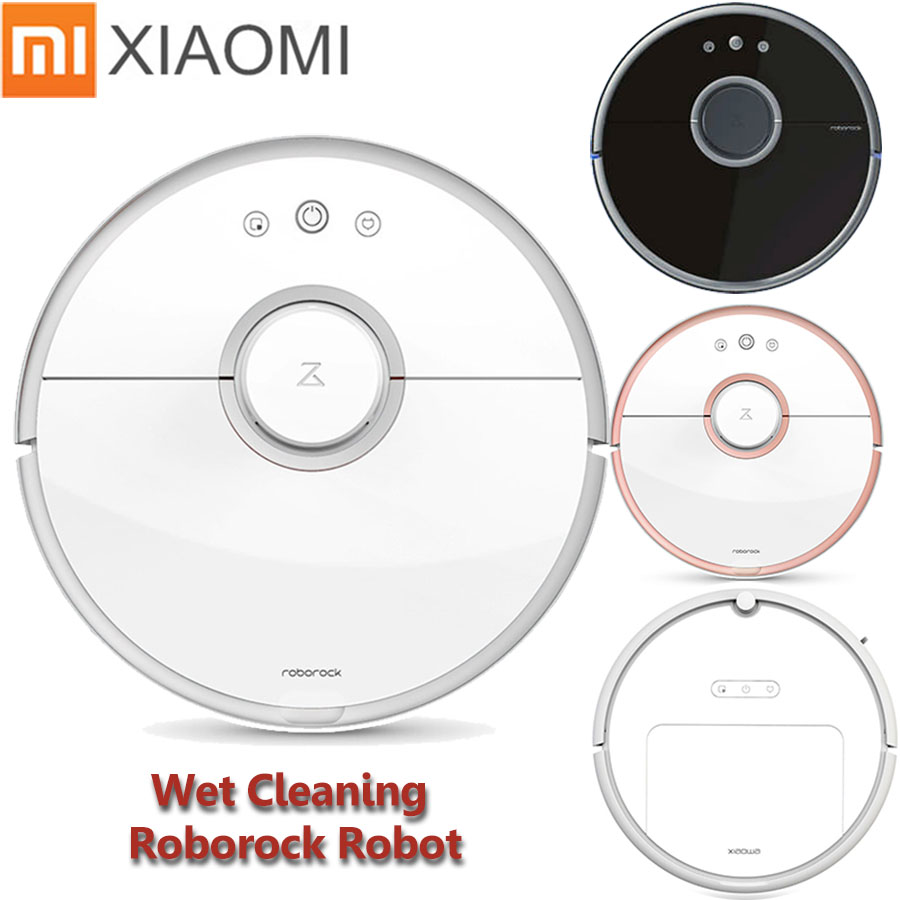 Xiaomi Robot Aspirapolvere Roborock S50 S51 S55 Bagnato Pulizia Robot Aspirapolvere Telecomando Mihome APP di Controllo Wifi