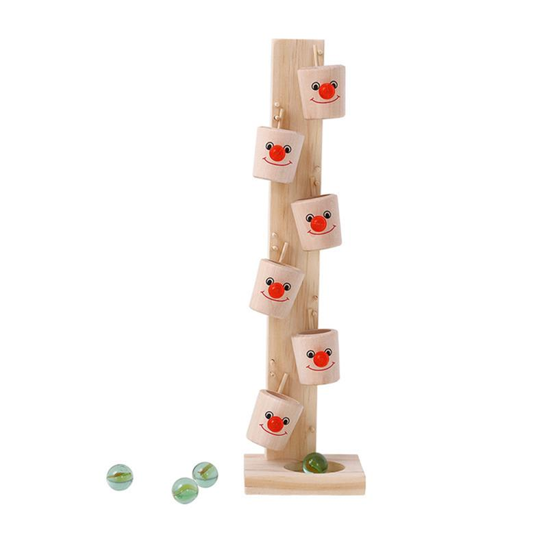Us 852 37 Off1pcs Marble Ball Drop Toy Wooden Educational Marble Ball Interaction Toys Stand Column Run Track For Kids Toddler Children In Party