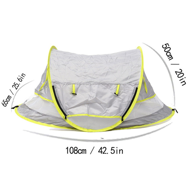 Baby Travel Bed Toy Tent Portable Baby Beach Tent UPF 50+ Sun Shelter Folding Outdoor Chid Travel Bed Mosquito Net Toy New 3