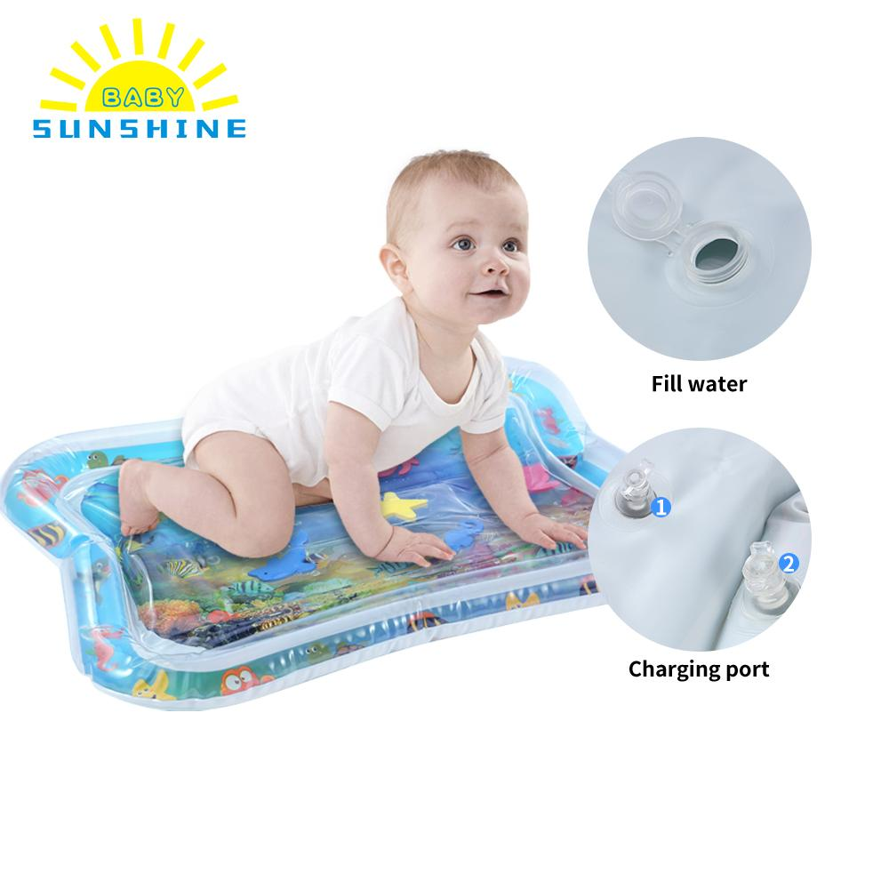 Los niños del bebé de agua mat inflable espesar PVC bebé barriga tiempo alfombra niño actividad divertida centro de juegos de agua mat para los bebés