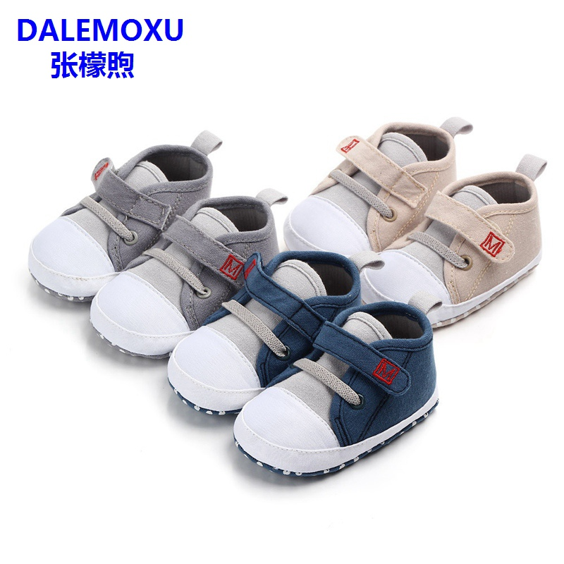 DALEMOXU Fashion Baby Boys Girls Canvas Shoes Toddler Tennis Shoes Infant Casual Running Sport Anti-slip Soft Sole Shoes
