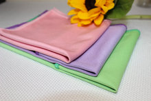 Microfiber Glass Cleaning Towels Cleaning Windows Screen Cloth purple ,pink,green 3pcs