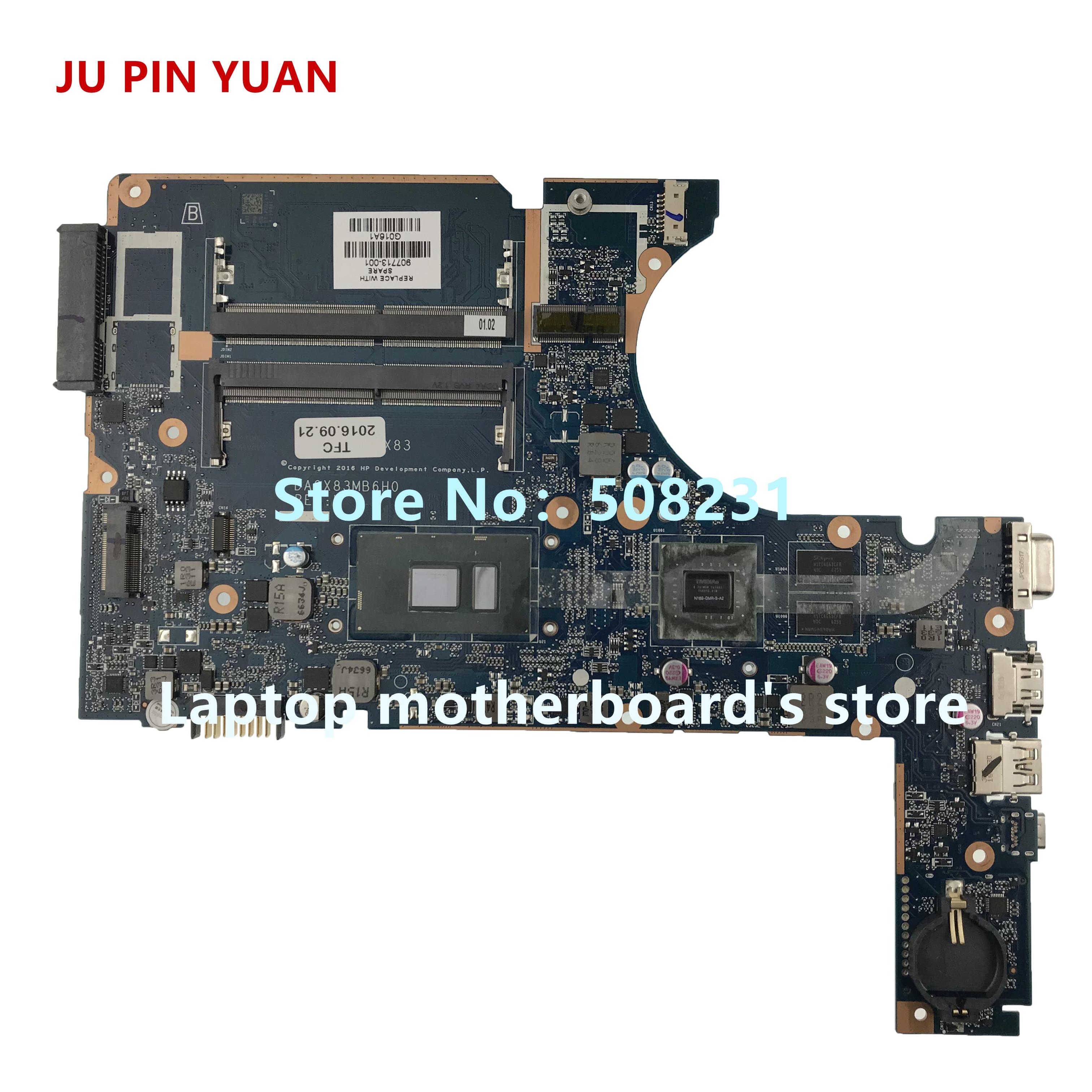 JU PIN YUAN 907713-601 907713-001 DA0X83MB6H0 For HP ProBook 450 G4 470 G4 Laptop motherboard I3-7100U fully TestedJU PIN YUAN 907713-601 907713-001 DA0X83MB6H0 For HP ProBook 450 G4 470 G4 Laptop motherboard I3-7100U fully Tested