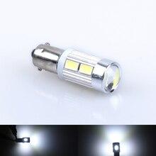 1 pcs Auto LED Wedge Luz BA9S H6W T4W T11 LEVOU 5630 5730 SMD Branco Lâmpadas Lâmpada Da Placa de Licença de Backup luzes de freio 6000 k
