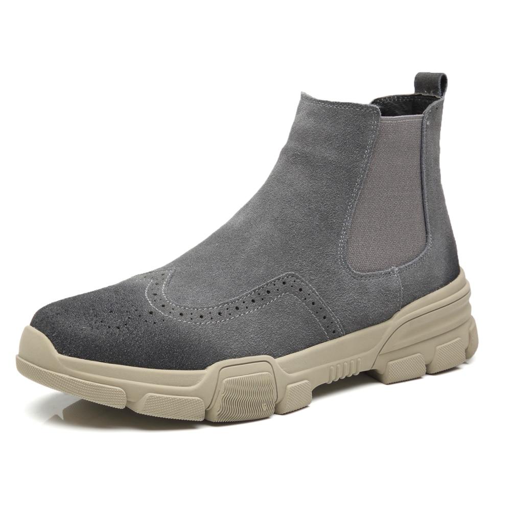 Slip gray on Militar 11 Hombres Socks Beige Tácticas Botas Gran Socks Desierto Socks Los Chelsea With De Tobillo Boots Casual Invierno Tamaño Ejército 46 black wgdaqWzv4n