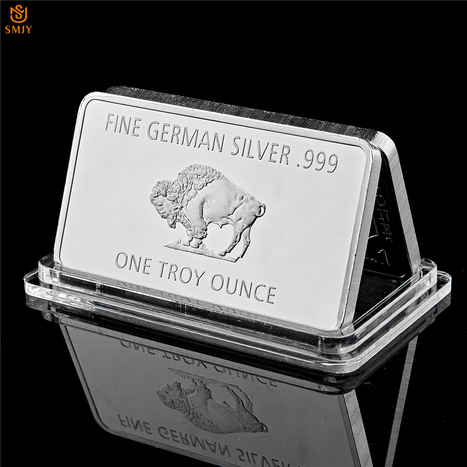 Fine Germany Silver Mint 1 Troy Ounce Buffalo Euro Silver Bullion Bar Replica Coins Collection|Non-currency Coins|   - AliExpress