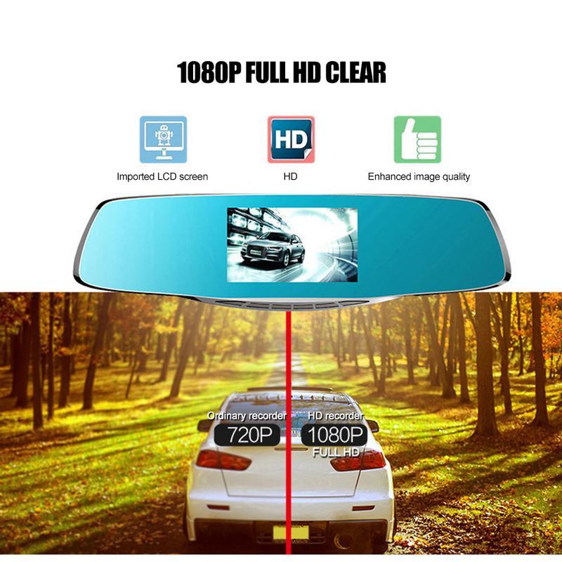 Nouveau 8 pouces rétroviseur enregistreur de conduite voiture Dash Cam écran tactile enregistreur de conduite Double lentille voiture Dash Cam W07 livraison directe