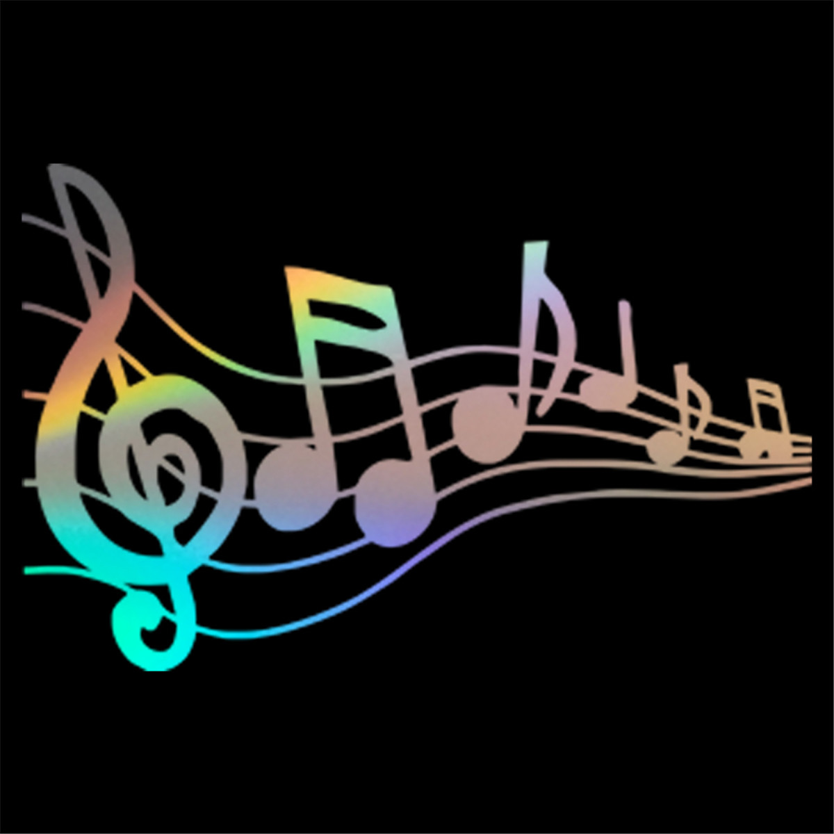 Musical Notes Decal Car Window Piano Guitar Wall Laptop Vinyl Sticker Decor Gift